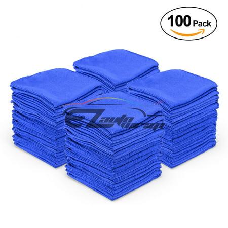 - 100 Pcs Microfiber Cleaning Cloth Towel Rag Car Polishing No Scratch Auto Detailing
