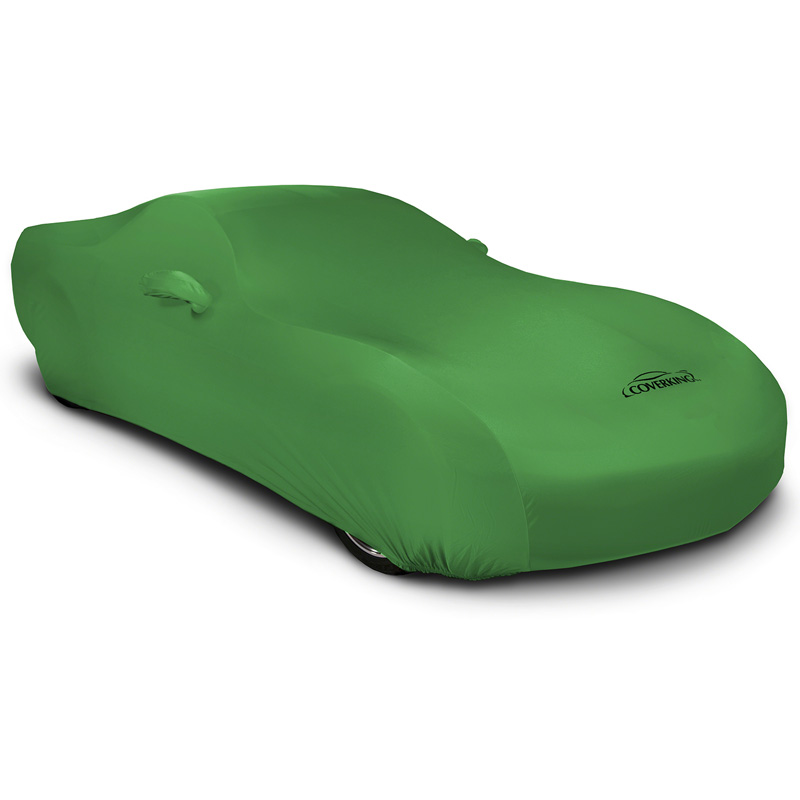 CUSTOM VEHICLE COVER SATIN STRETCH SYNERGY GREEN CLASS 6 FOR