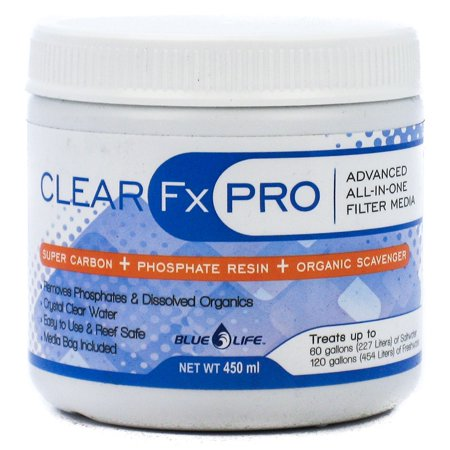 Blue Life Clear FX Pro Filter Media 450 ml - (Treats 120 Gallons Freshwater / 60 Gallons Saltwater)