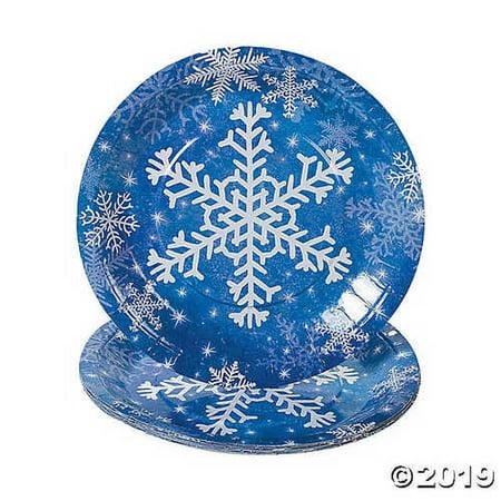 Snowflake Paper Dinner Plates - Snowflake Plate