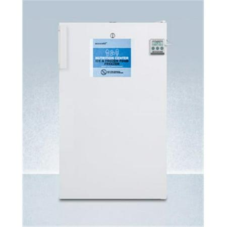 Accucold FS407LBI7NZADA ADA Compliant Built-in Undercounter Nutrition Center All Freezer,