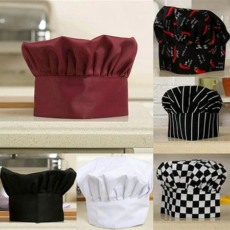 Heepo Unisex Comfortable Adjustable Kitchen Baker Chef Cap Elastic Catering Cook - Chef Cap