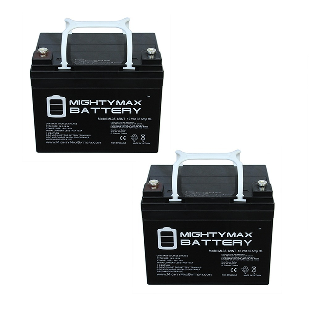 12V 35AH SLA INT Battery Replaces Kangaroo TG-31 Golf Cart - 2 Pack