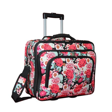 - World Traveler  Floral Collection Rolling 17-inch Laptop Business Case