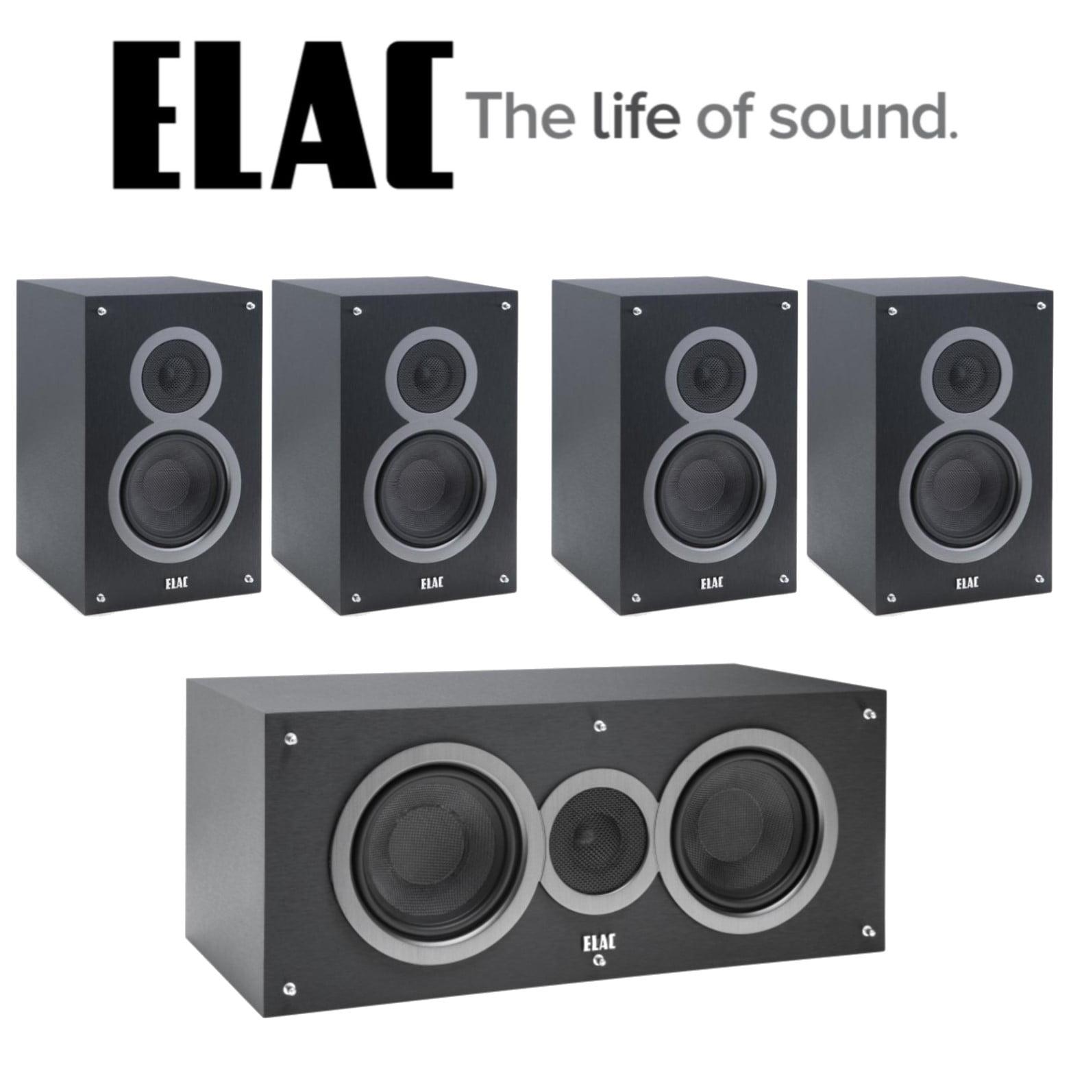 Elac Bundle with (4) Debut B5 Bookshelf Speakers and (1) Debut C5 Center Channel Speaker