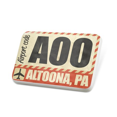 Porcelein Pin Airportcode AOO Altoona, PA Lapel Badge – NEONBLOND (Party City Altoona Pa)