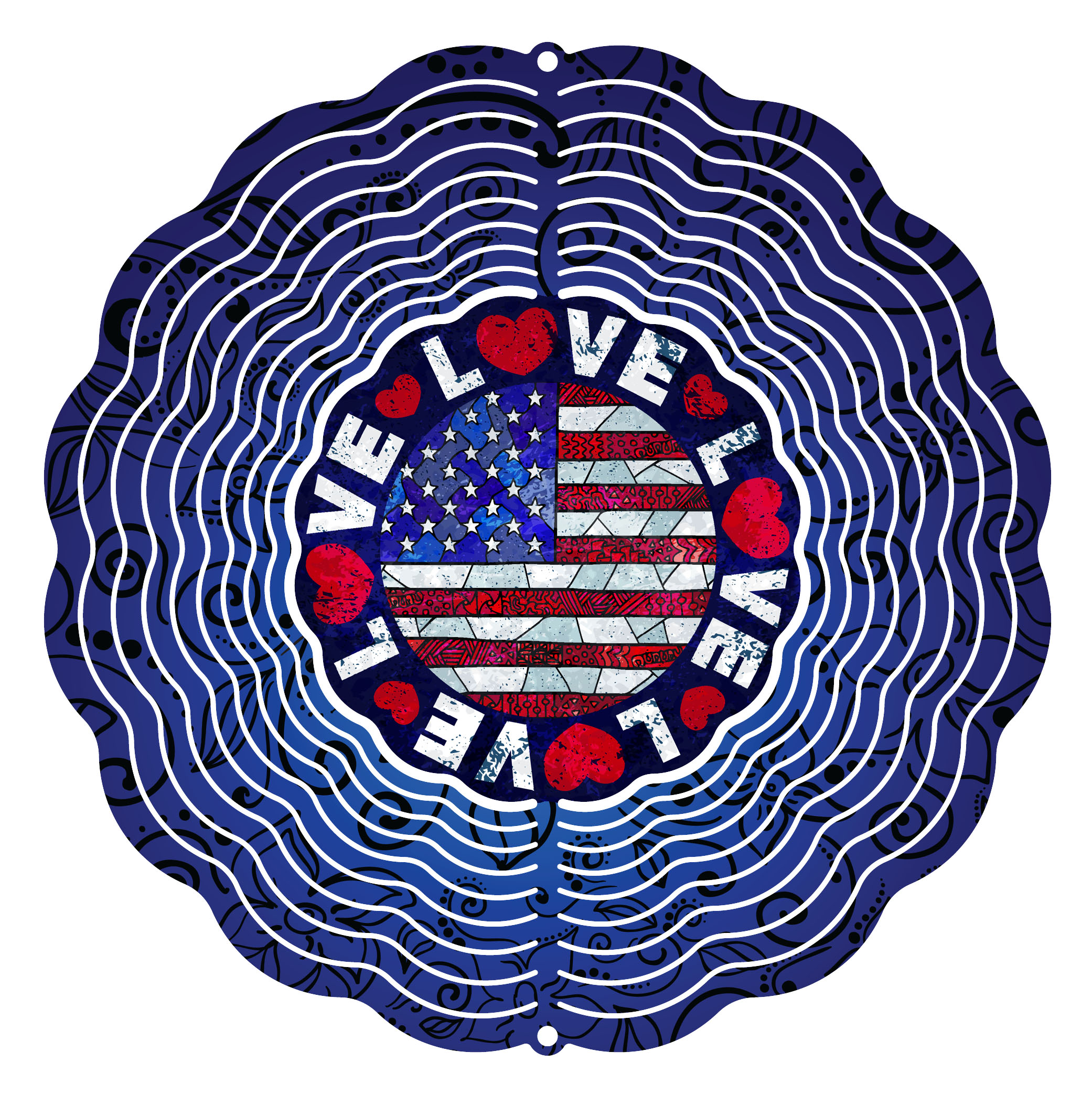 Next Innovations 10 in. Love the USA Wind Spinner by Next Innovations