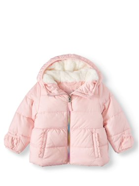 Wonder Nation Baby Toddler Girl Bubble Jacket