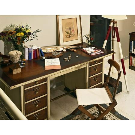 Authentic Models Captain Writing Laptop Desk White Trim