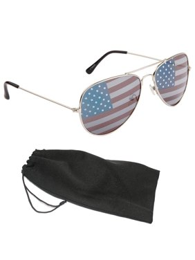 595e5e40f7 New American Flag Pilot Sunglasses USA July 4th Independence Day Silver  Frames. ZHRZ KZXRURX
