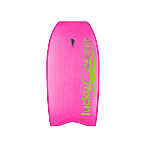 Lucky Bums Body Board with EPS Core, Slick Bottom, and Leash (Pink, 33-Inch) by Lucky Bums