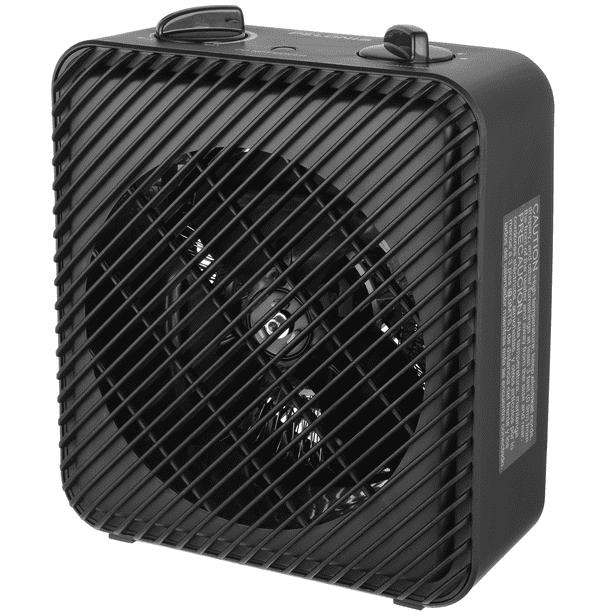 Mainstays 1500W 3-Speed Electric Fan-Forced Space Heater, HF-1008B, Black