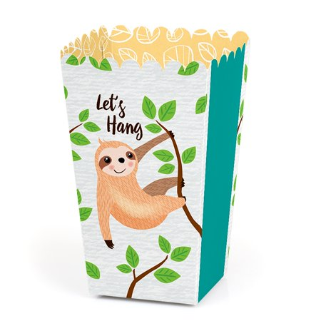 Let's Hang - Sloth - Baby Shower or Birthday Party Favor Popcorn Treat Boxes - Set of - Popcorn Boxes Baby Shower
