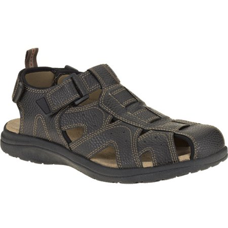 Wrangler mens closed toe fisherman sandal for Mens fishing sandals