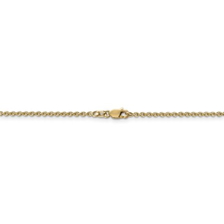 14k Yellow Gold 1.8mm Solid Link Cable Chain Anklet Ankle Beach Bracelet Fine Jewelry For Women Gifts For Her - image 2 of 9