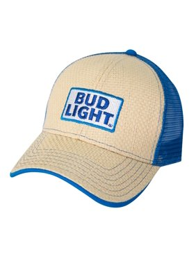 607618dcad21e Product Image Men s Bud Light Paper Straw Adjustable Baseball Cap