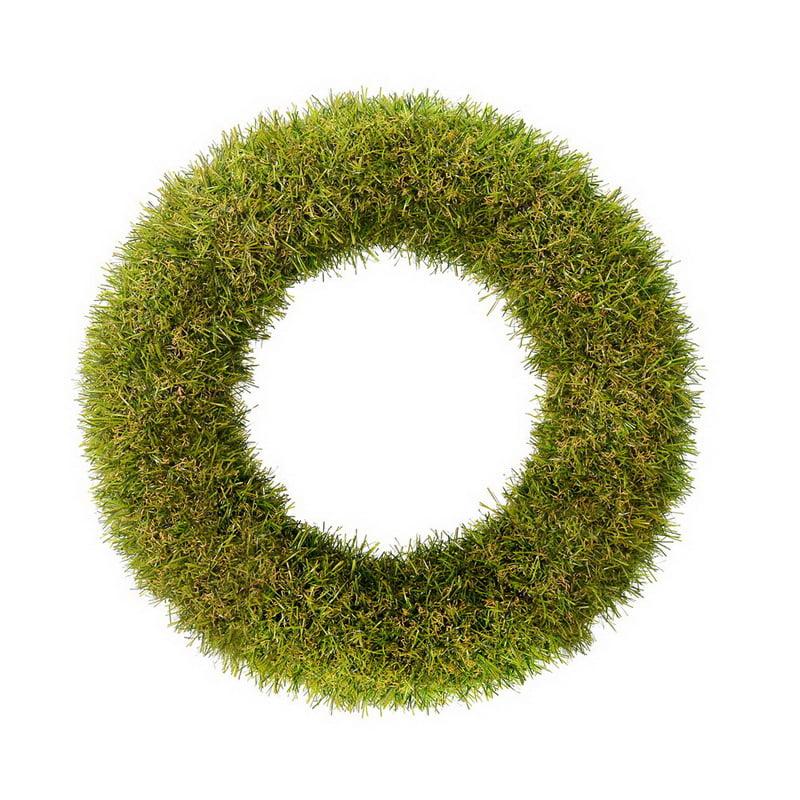 "Vickerman FO182702 14"" Green Grass Wreath"