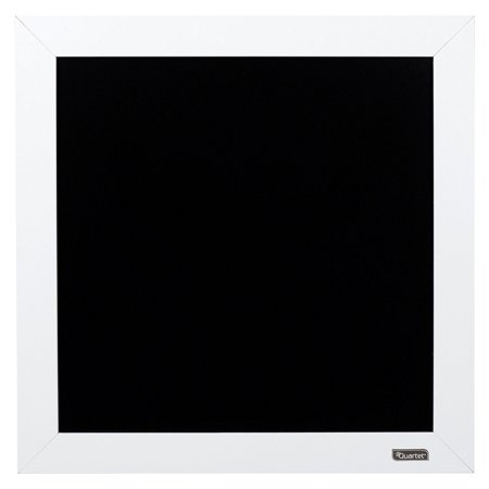 Quartet 14 x 14 Inch Classic Chalkboard with White Wood Frame](Chalkboard Frames)