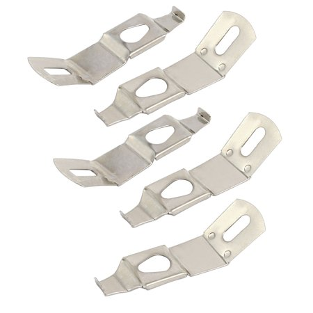 Spring Hanger - Uxcell Picture Photo Frame Hardware Metal Spring Turn Clip Hanger Silver Tone 5pcs