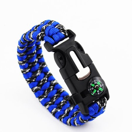 05108067f3eb DSstyles - Outdoor Survival Emergency Rope Bracelet With Compass ...