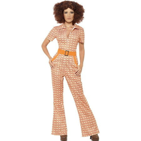 Authentic 70's Chic Women's Adult Halloween Costume, Large