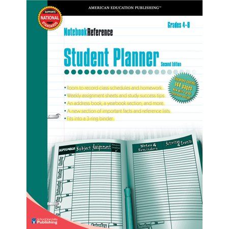 Student Planner, Grades 4 - 8 : Second Edition (Halloween Art For Grade 4)