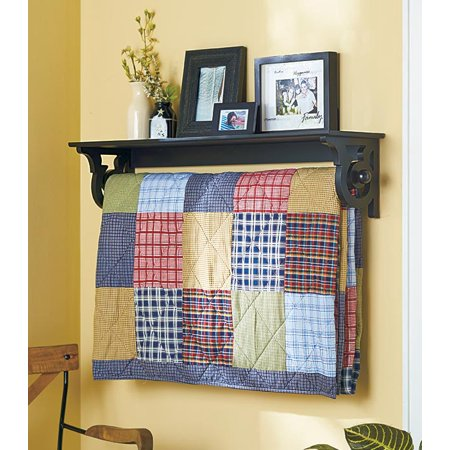 - Deluxe Quilt Rack with Shelf 37-1/4