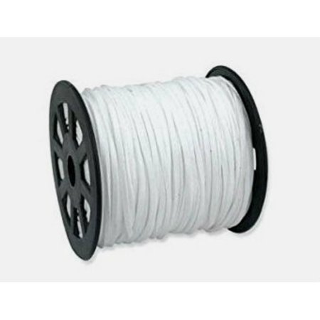 Faux Leather Suede Beading Cord, White, (10 feet)