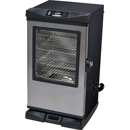 "Masterbuilt 30"" Electric Smoker with Window and Remote, Black/Stainless"