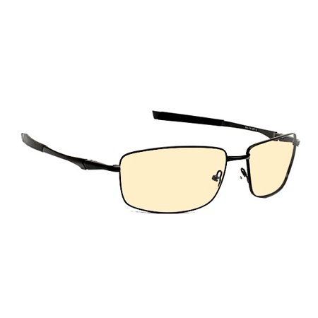 Computer Glasses with Sheer Glare Peach Double Sided Anti Reflective Lenses - Stylish Metal Wrap Frame - (Stylish Computer Glasses)