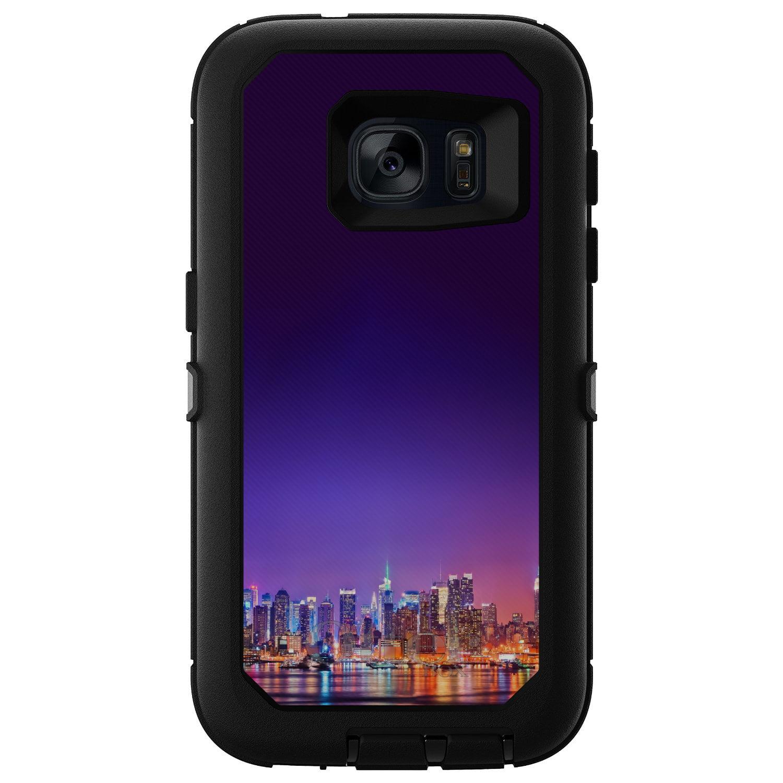 DistinctInk™ Custom Black OtterBox Defender Series Case for Samsung Galaxy S7 - New York Skyline Night