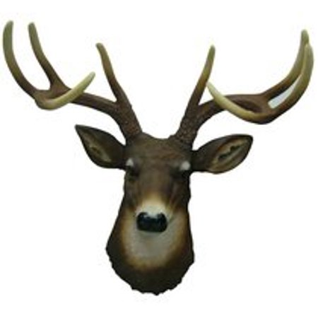 - 8 Point Buck Deer Head Bust Wall Hanging
