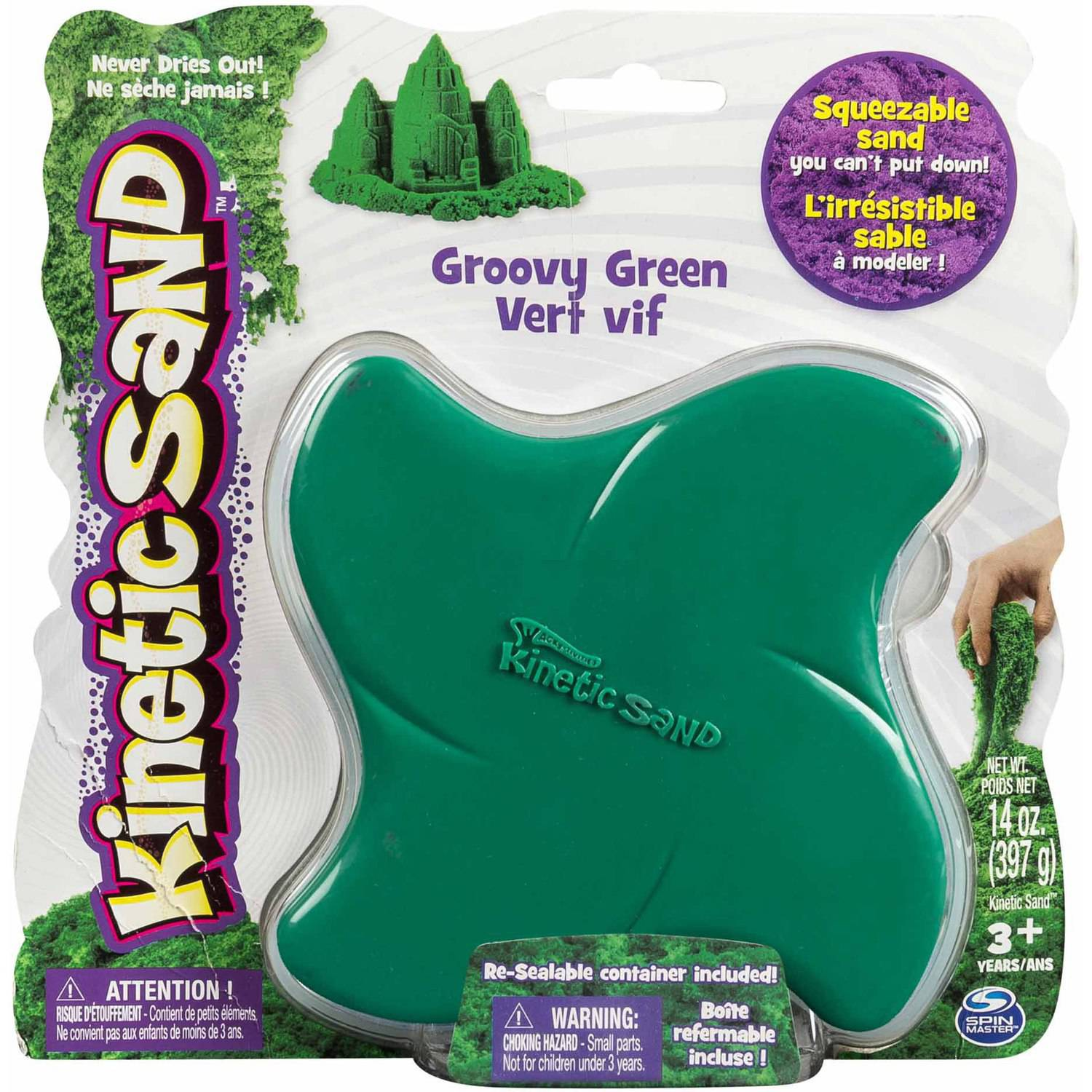 Kinetic Sand, 14 oz Groovy Green
