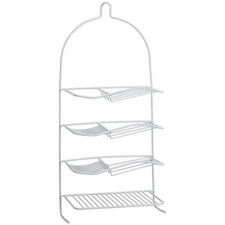 Bath Bliss Shower Organizer/Caddy, 4-Shelf Round Wire