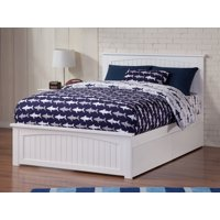 Nantucket Platform Bed with Matching Foot Board with 2 Urban Bed Drawers, Multiple Colors, Multiple Sizes