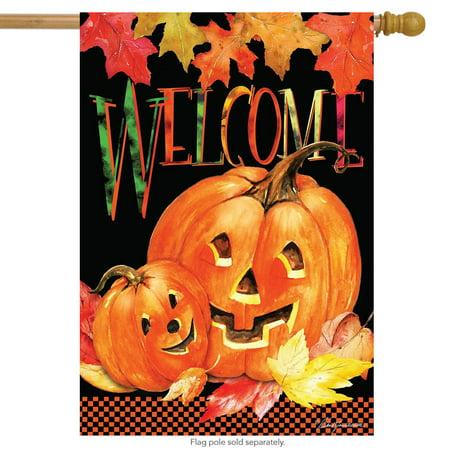 Patio Pal - Pumpkin Pals Halloween House Flag Jack o'Lanterns Briarwood Lane 28