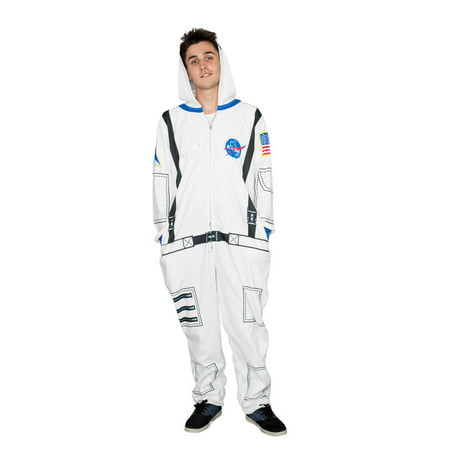 Nasa Astronaut Costume Hooded Adult Pajama Union Suit - Mm Costumes