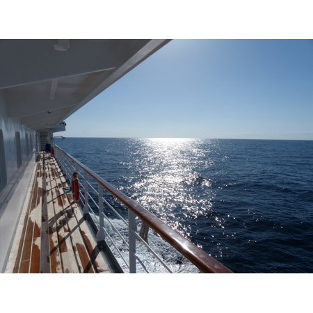 Canvas Print Driving Cruise Ship Sun Blue Atlantic Water Stretched Canvas 10 x