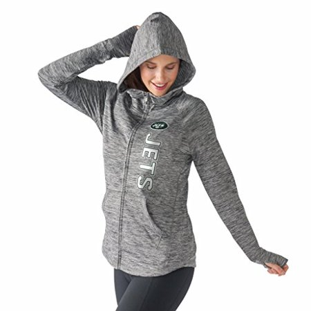 competitive price e0547 40967 Women's G-III 4Her by Carl Banks NFL Recovery Full Zip Up Hoodie (Xlarge,  New York Jets)