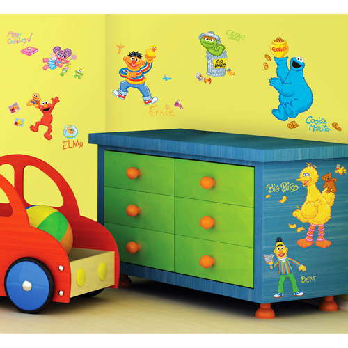 RoomMates - Sesame Street Peel & Stick Wall Decals