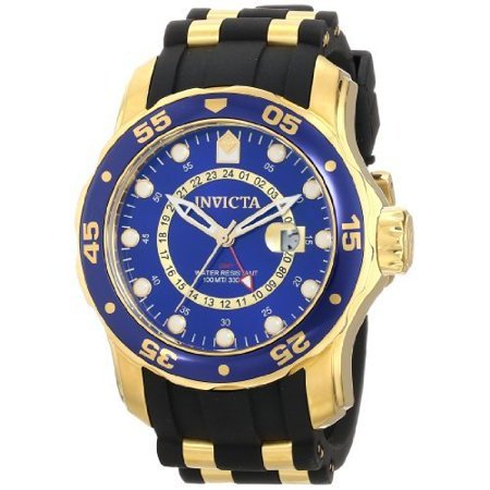 Invicta Men's 6993 Pro Diver Quartz GMT Blue Dial Watch Invicta Gmt Watch