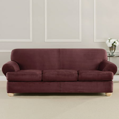 Sure Fit Ultimate Strech Suede 3 Cusion Sofa T Cushion