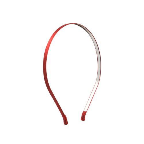 "Satin Headband, 1/4"", Red"
