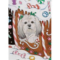 Pipsqueak Productions C811 Lhasa Apso Christmas Boxed Cards - Pack of 10