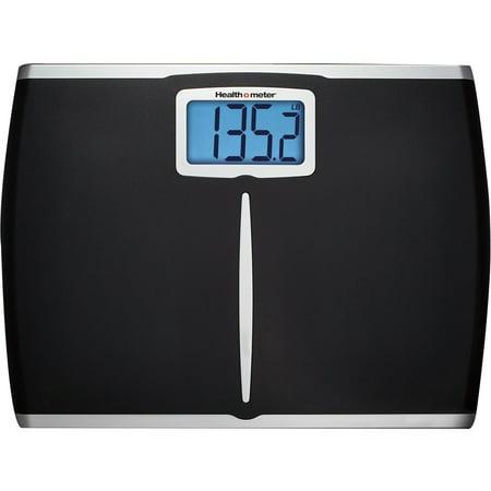 Health o meter Extra-Wide Digital Scale, Black,