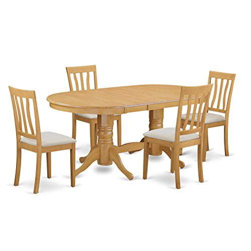 VAAN5 OAK C 5 Piece Dinette table set kitchen table and