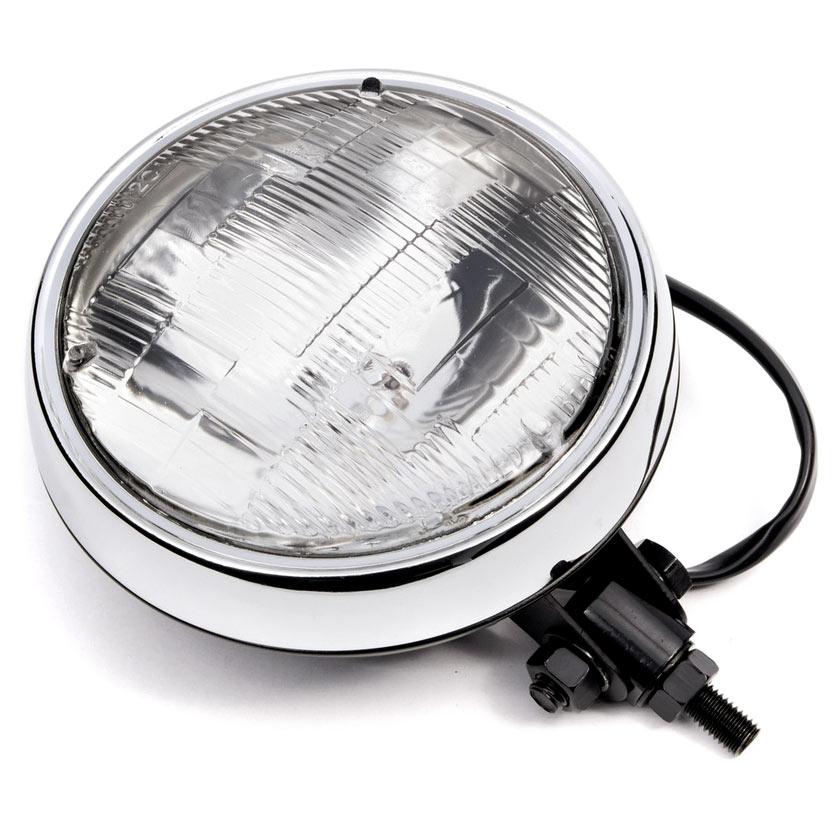 "Krator 6"" Black w/ Chrome Ring Motorcycle Headlight Bottom Mount Running Light Hi/Lo for Honda Gold Wing Goldwing 1200 1500 1800 - image 7 of 8"