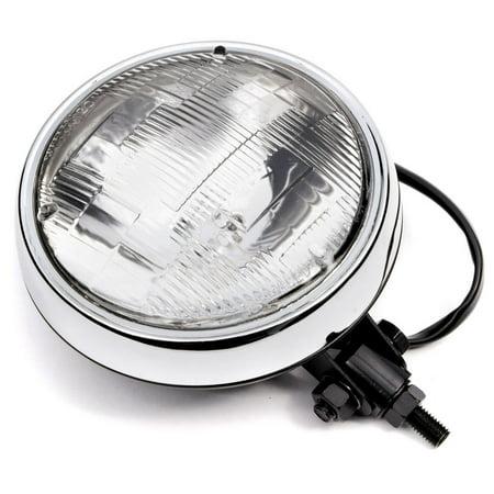 "Krator 6"" Black w/ Chrome Ring Motorcycle Headlight Bottom Mount Running Light Hi/Lo for Yamaha TX SR CS YX RD 350 400 500 600 650 750 - image 7 of 8"