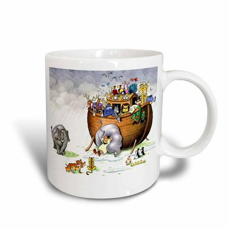 3dRose Noahs Ark, Ceramic Mug, 11-ounce
