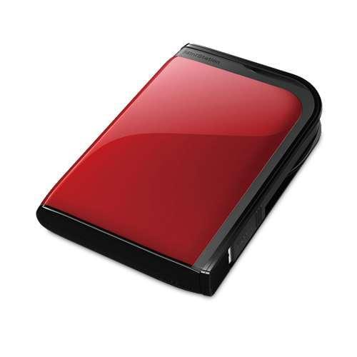 Buffalo MiniStation Extreme HD-PZ1.0U3R 1TB External HD - USB 3.0, up to 5 Gbps, Red
